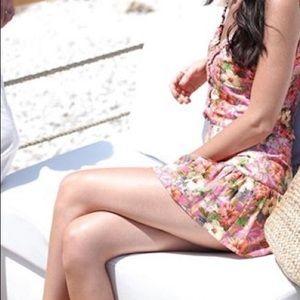 Zara xl skort floral print NWT